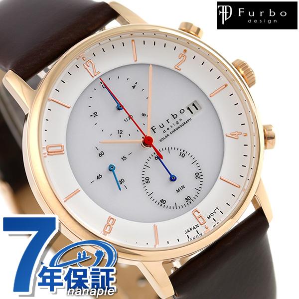 フルボ デザイン F761 ソーラー クロノグラフ 腕時計 F761-PWHDB Furbo Design ホワイト 時計