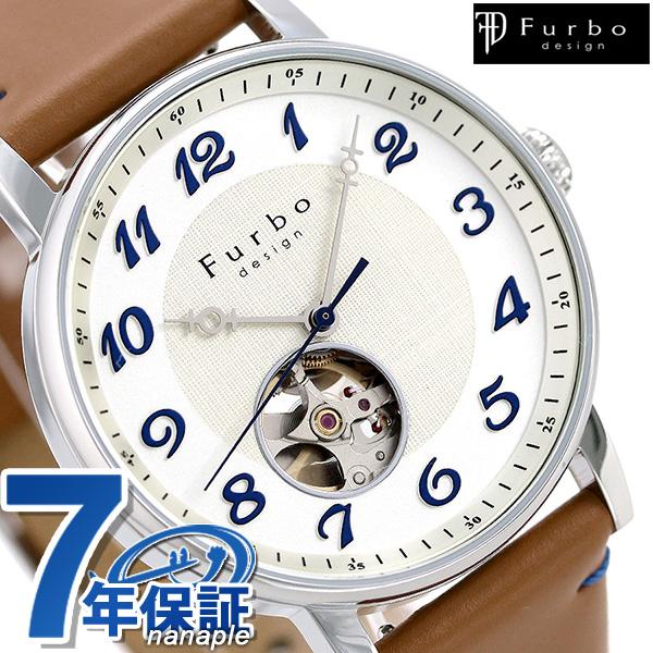 フルボ デザイン F8202 自動巻き メンズ 腕時計 F8202SWHLB Furbo Design ライトブラウン 時計
