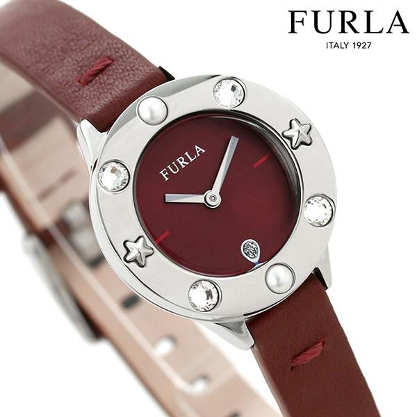 【ショッパー付き♪】 フルラ 時計 クラブ 26mm レディース 腕時計 4251109528 FURLA ワインレッド 革ベルト【あす楽対応】