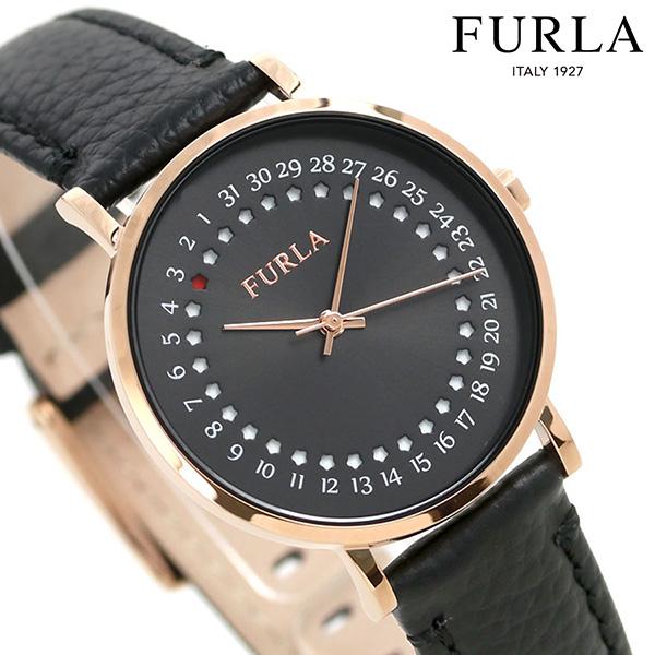 【ショッパー付き♪】フルラ 時計 ジャーダ デイト 33mm レディース 腕時計 4251121505 FURLA ブラック 革ベルト【あす楽対応】