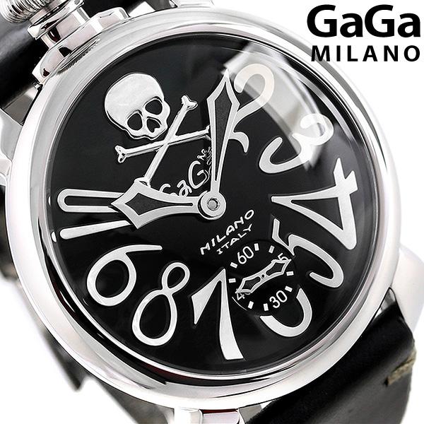 ガガミラノ マヌアーレ 48MM アートコレクション 手巻き 5010ART.02S GaGa MILANO 腕時計 革ベルト 時計