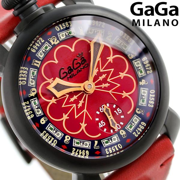 ガガミラノ マヌアーレ 48MM ラスベガス 限定モデル 手巻き 5012LV.02 GaGa MILANO 腕時計 時計