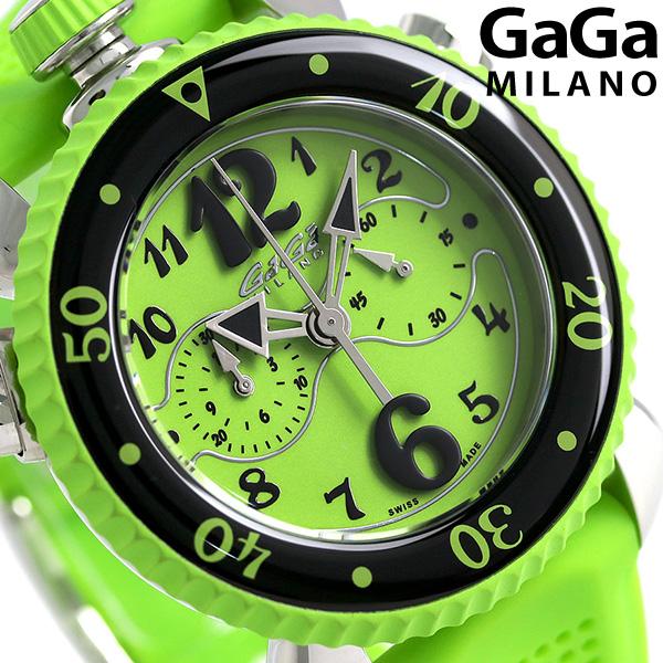 ガガミラノ クロノ スポーツ 45MM スイス製 メンズ 7010.07 GaGa MILANO 腕時計 グリーン 時計