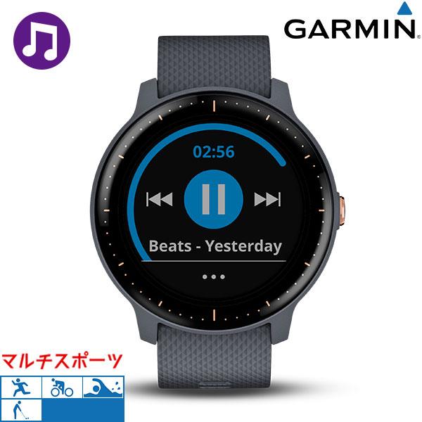 ガーミン GARMIN vivoactive 3 Music GPSスマートウォッチ デジタル 010-01985-43 腕時計 ブラック×グレー 時計