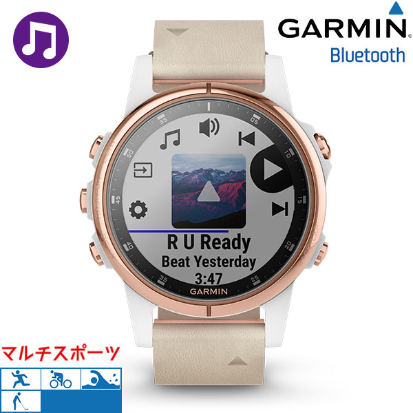 ガーミン GARMIN 5, Phoenix plus fenix 5S Plus Rose gold 010-01987-83 watch GPS  Bluetooth clock
