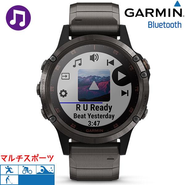 ガーミン GARMIN フェニックス5プラス fenix 5 Plus チタン ブラック 010-01988-84 腕時計 GPS Bluetooth 時計