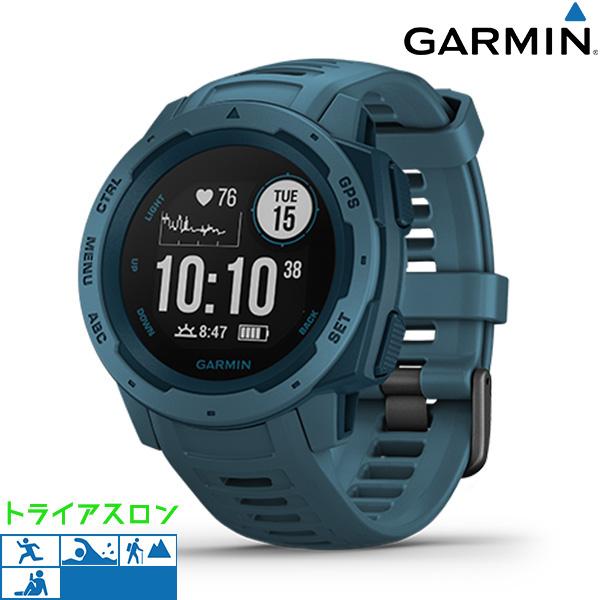 【10日はさらに+4倍で店内ポイント最大53倍】 ガーミン GARMIN Instinct GPS アウトドアウォッチ 010-02064-52 デジタル メンズ 腕時計 レイクサイドブルー【】
