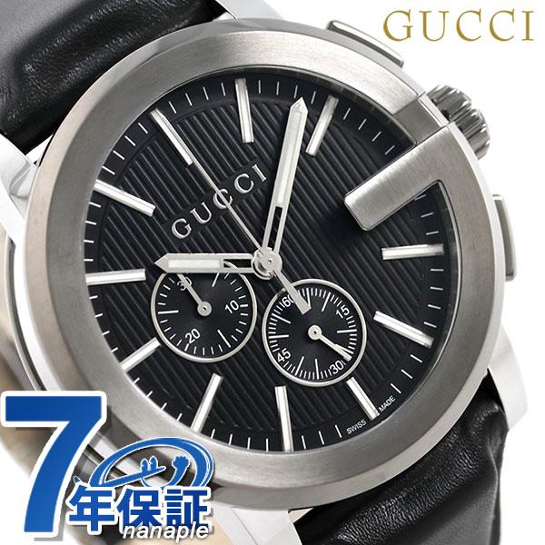 3475a4cdb1b nanaple  G-Kurono YA101205 black in Gucci clock leather belt men GUCCI arm  in total