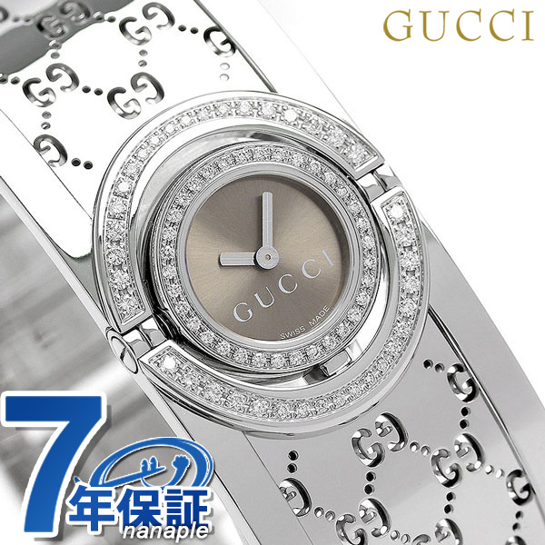 671fbcdc0e7 nanaple  Gucci clock Lady s GUCCI watch toile 17mm quartz YA112504 ...