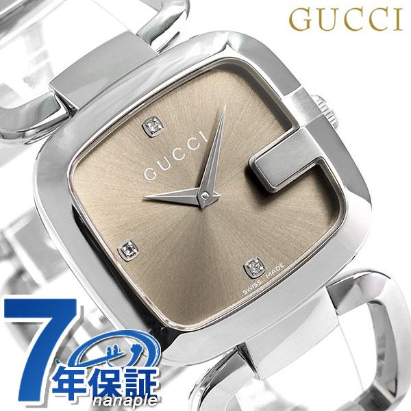 d8e4ca3d829 nanaple  Gucci clock Lady s G Gucci diamond YA125401 GUCCI brown watch