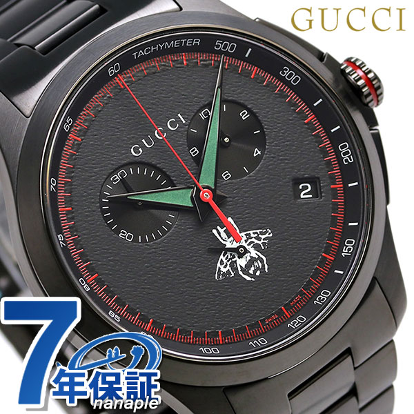 3cb2948abf7 nanaple  Gucci clock men GUCCI watch G thymeless 46mm YA126269 oar black