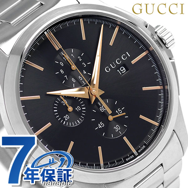 グッチ 時計 メンズ GUCCI 腕時計 Gタイムレス 46mm クロノグラフ YA126272 ブラック