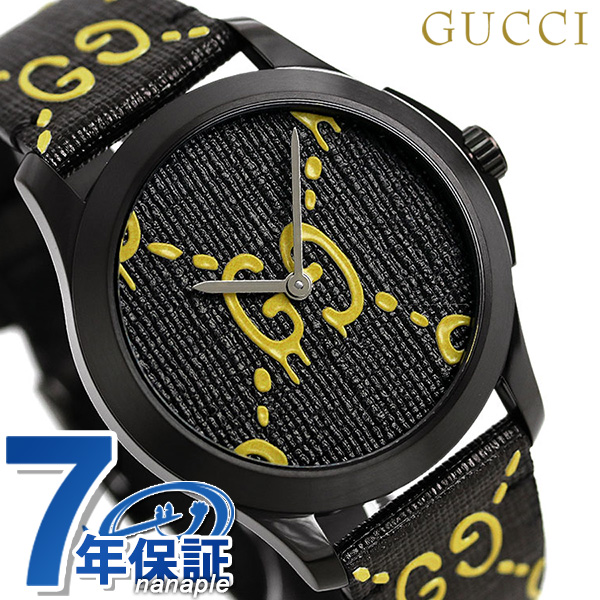 9e6f5ea006e Gucci clock G thymeless ghost 40mm unisex men gap Dis watch YA1264019 GUCCI