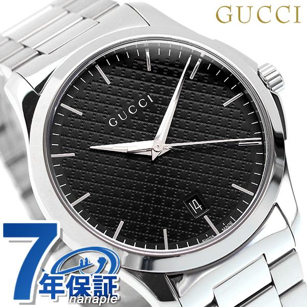 【10日はさらに+4倍で店内ポイント最大53倍】 グッチ 時計 メンズ GUCCI 腕時計 Gタイムレス 40mm YA1264051 ブラック