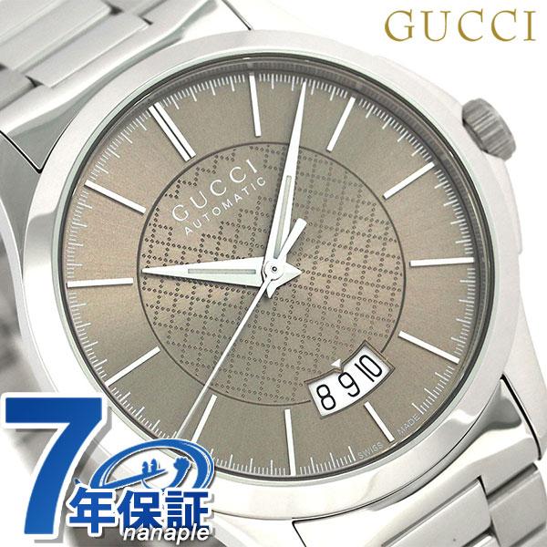 グッチ 時計 メンズ GUCCI 腕時計 Gタイムレス 40mm 自動巻き YA126431 ブラウン【あす楽対応】