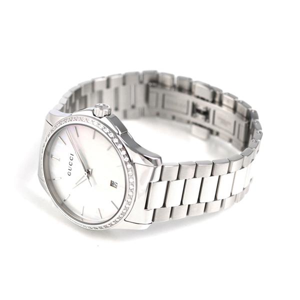 50b11e3351a Gucci G thymeless 40mm diamond quartz watch YA126444 GUCCI white shell clock
