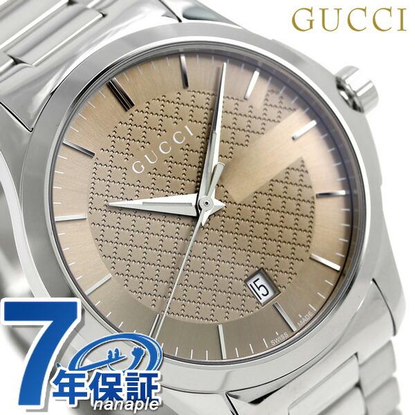 グッチ 時計 メンズ GUCCI 腕時計 Gタイムレス クオーツ YA126445 ブラウン