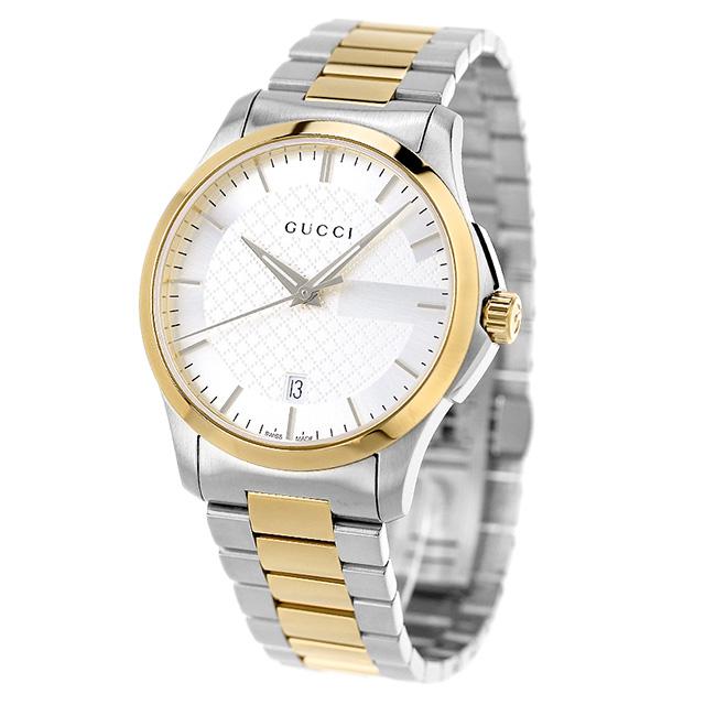 42bf229b32c nanaple  Gucci clock men GUCCI watch G thymeless 40mm silver X gold ...