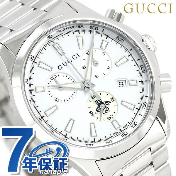グッチ 時計 メンズ GUCCI 腕時計 Gタイムレス 39mm ホワイト YA126472