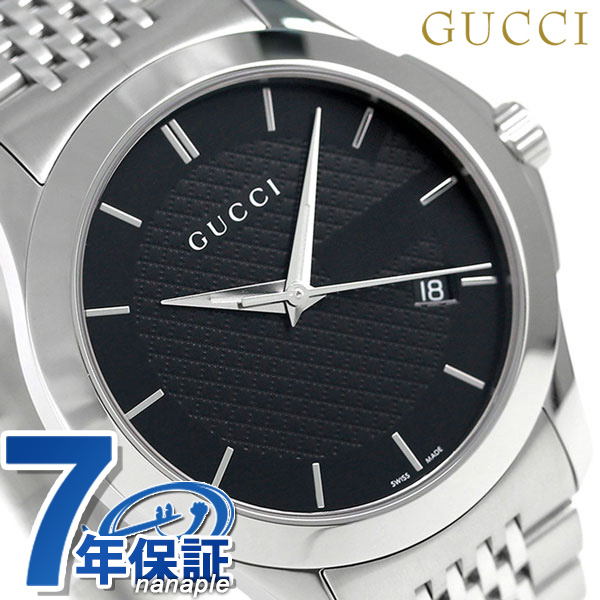 グッチ 時計 メンズ GUCCI 腕時計 Gタイムレス クオーツ YA126480 ブラック【あす楽対応】