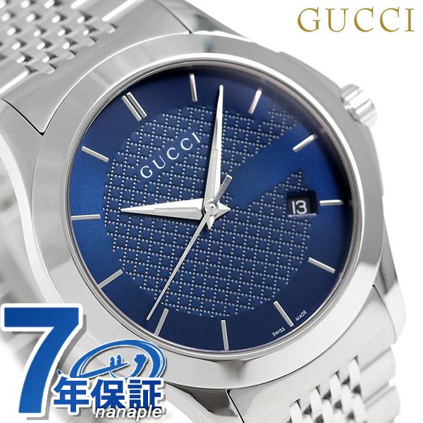グッチ 時計 メンズ GUCCI 腕時計 Gタイムレス クオーツ YA126481 ブルー