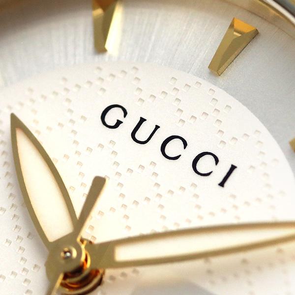 7958dc429b0 Gucci clock Lady s GUCCI watch G thymeless 27mm silver X gold YA126511