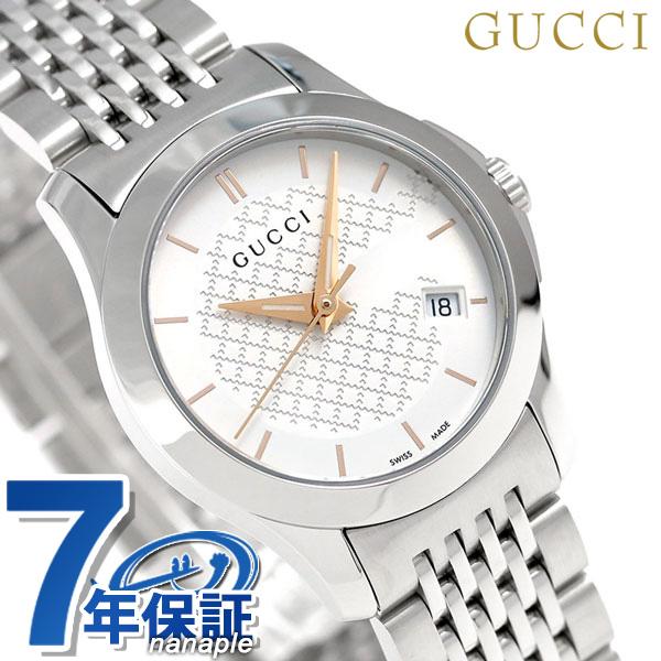 グッチ 時計 レディース GUCCI 腕時計 Gタイムレス クオーツ YA126565 シルバー