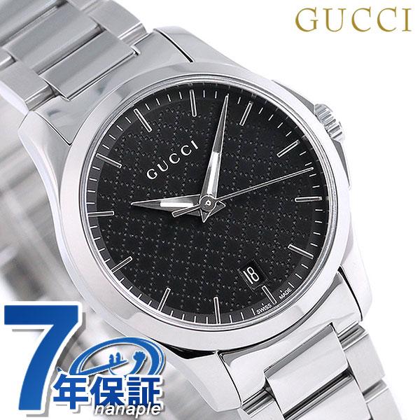 グッチ 時計 レディース GUCCI 腕時計 Gタイムレス 28mm YA126592 ブラック