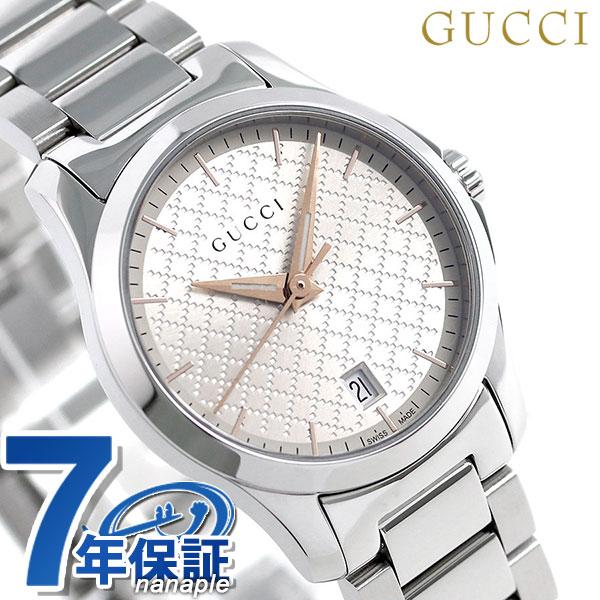 グッチ 時計 レディース GUCCI 腕時計 Gタイムレス 28mm YA126593 シルバー