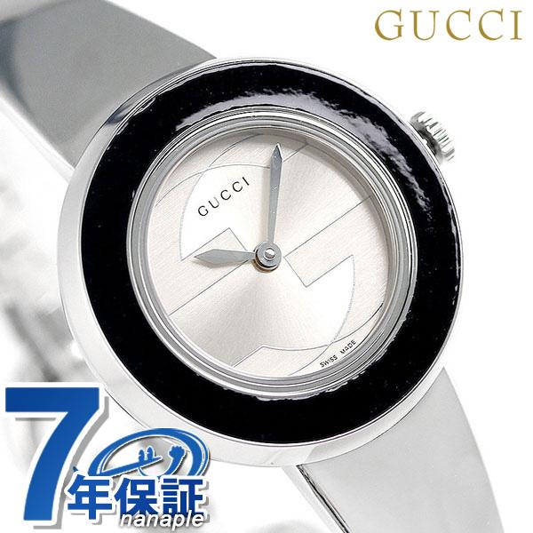グッチ 時計 レディース GUCCI 腕時計 Uプレイ 27mm クオーツ YA129516-SET-BKBG シルバー