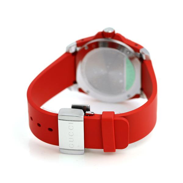 29f7c633f72 nanaple  Gucci clock men GUCCI watch dive 43mm YA136309 black X red ...