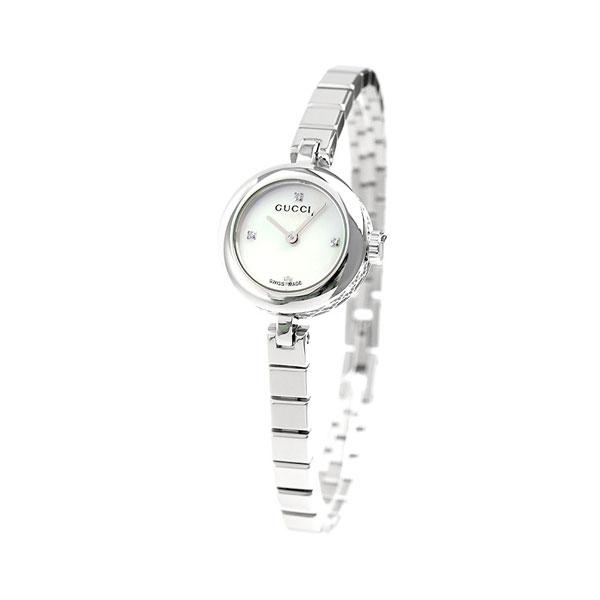 e5fe8cdcb87b60 グッチ ディアマンティッシマ スモール 22mm レディース YA141503 GUCCI 腕時計 ホワイトシェル