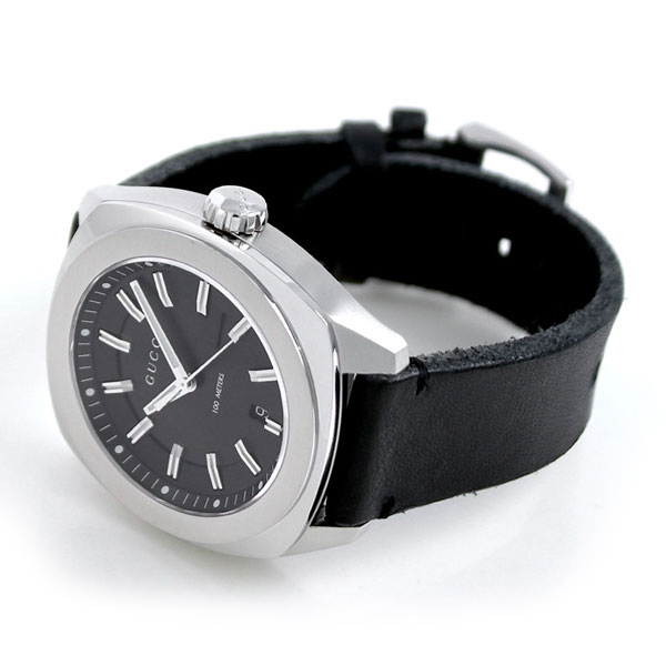 12cc0b54385 nanaple  Gucci clock men GUCCI watch GG2570 collection 44mm black ...
