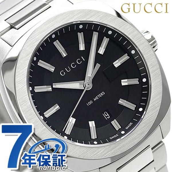 グッチ 時計 メンズ GUCCI 腕時計 GG2570 コレクション ラージ 41mm YA142301 ブラック【あす楽対応】