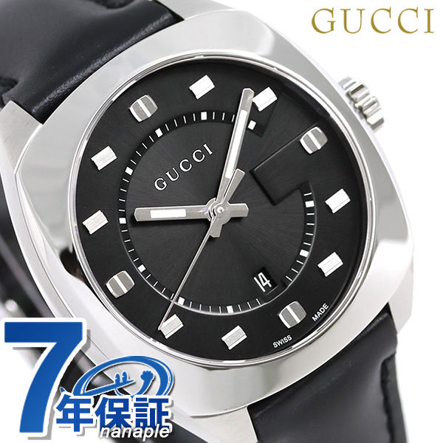 f5731c7558c Gucci clock men GUCCI watch GG2570 collection 41mm YA142307 leather belt  black