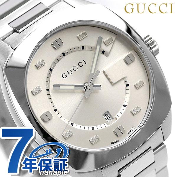 グッチ 時計 メンズ GUCCI 腕時計 GG2570 コレクション ラージ 41mm YA142308 シルバー