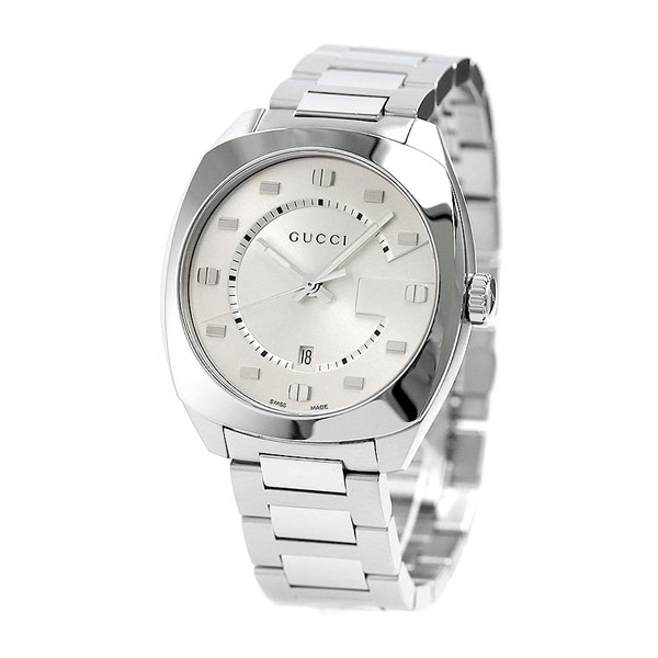0ae60ff0127 Gucci clock men GUCCI watch GG2570 collection large 41mm YA142308 silver
