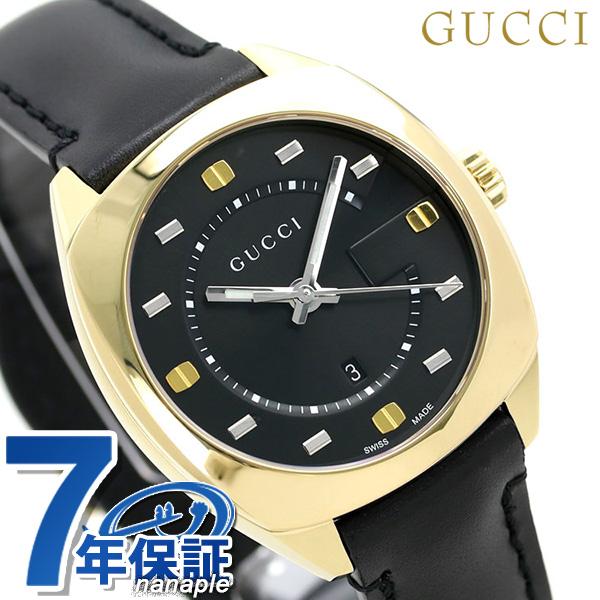 グッチ GUCCI レディース 腕時計 GG2570 コレクション ミディアム 37mm YA142408 ブラック 革ベルト 時計【あす楽対応】
