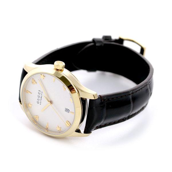 グッチ 時計 Gタイムレス 38mm 自動巻き メンズ レディース 腕時計 YA126470A GUCCI G TIMELESS シルバー×ダークブラウン 革ベルトm8nvNO0w