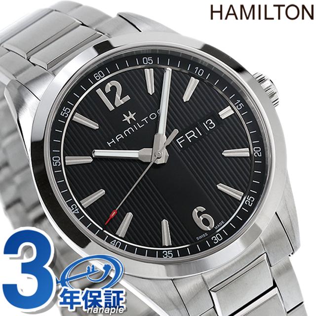 店内ポイント最大43倍!16日1時59分まで! ハミルトン 腕時計 HAMILTON H43311135 デイデイト ブロードウェイ クオーツ 40MM ブラック 時計【あす楽対応】