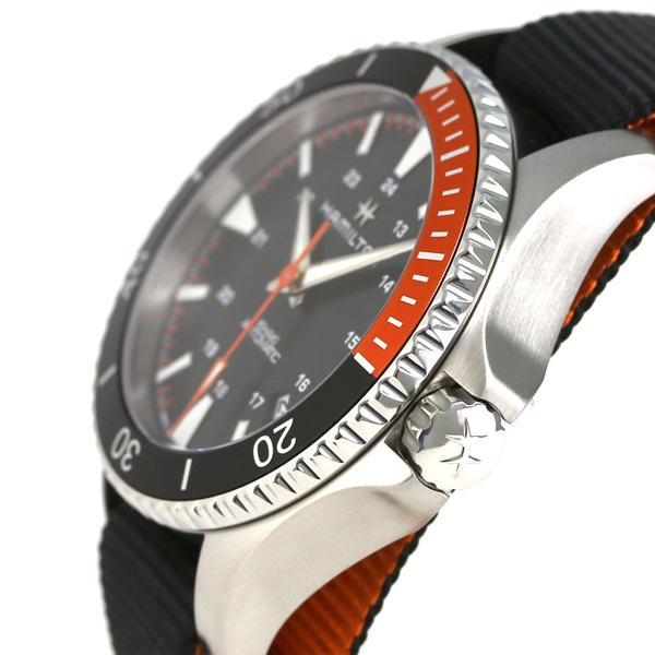 漢密爾頓黄褐色深藍水下呼吸器自動40MM H82305931 HAMILTON手錶黑色