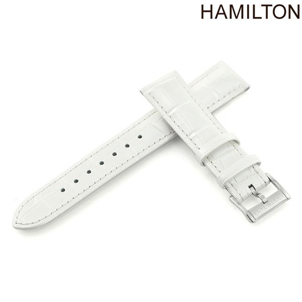 ハミルトン 純正 腕時計 時計ベルト 18mm HAMILTON 交換用ベルト H600.114.111 アメリカン クラシック アードモア シリーズ対応 ホワイト