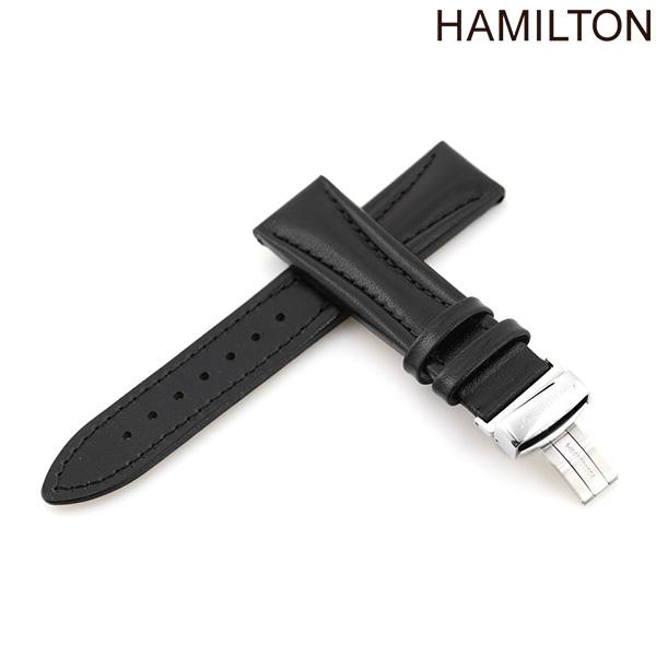 ハミルトン 純正 腕時計 時計ベルト 20mm HAMILTON 交換用ベルト H600.194.101 アメリカン クラシック ロイド シリーズ対応 ブラック