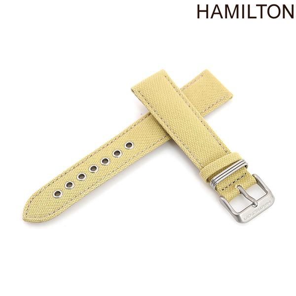 ハミルトン 純正 腕時計 時計ベルト 20mm HAMILTON 交換用ベルト H600.694.100 カーキ フィールド シリーズ対応 ベージュ