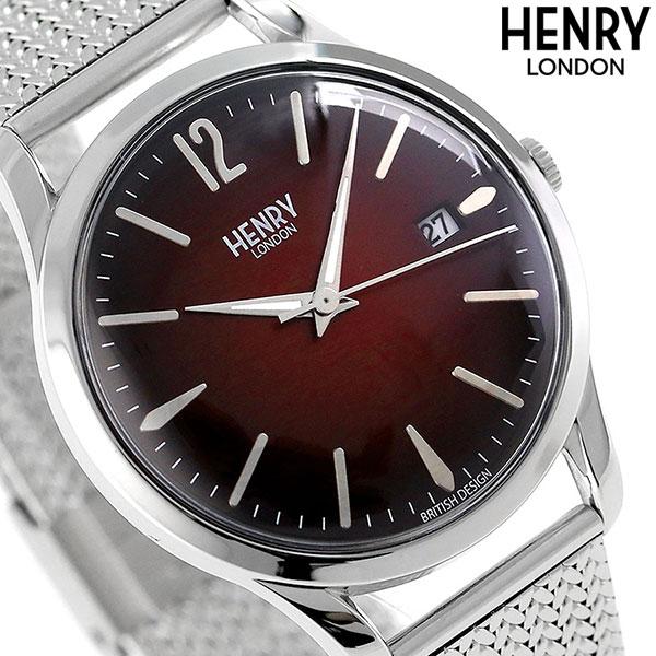ヘンリーロンドン HENRY LONDON チャンスリー 39mm HL39-M-0097 腕時計 レッド 時計