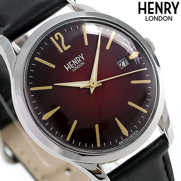 ヘンリーロンドン HENRY LONDON チャンスリー 39mm HL39-S-0095 腕時計 レッド×ブラック 時計