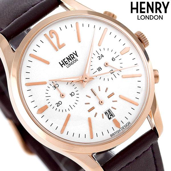 ヘンリーロンドン HENRY LONDON 39mm クロノグラフ HL39-CS-0090 腕時計 ハムステッド 時計