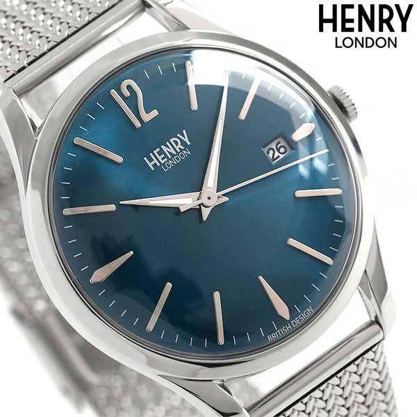 ヘンリーロンドン HENRY LONDON ナイツブリッジ 39mm HL39-M-0029 腕時計 ブルー 時計