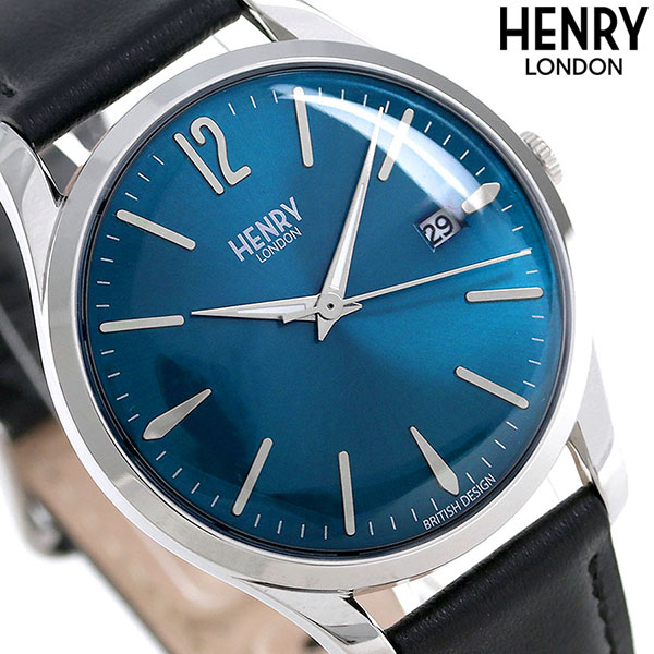 ヘンリーロンドン HENRY LONDON ナイツブリッジ 39mm HL39-S-0031 腕時計 ブルー 時計