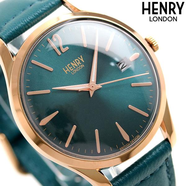 ヘンリーロンドン HENRY LONDON 39mm 革ベルト メンズ HL39S0134 腕時計 ストラトフォード 時計
